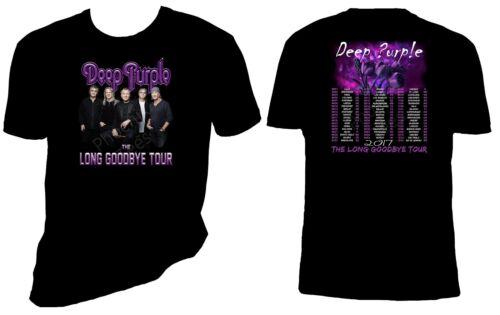 Deep Purple 2017 concert T shirt The Long Goodbye T Shirt Tailles S-6X