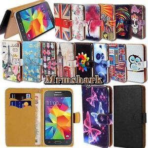 Flip-Leather-Wallet-Card-Stand-Cover-Case-For-Samsung-Galaxy-Mobile-Phones