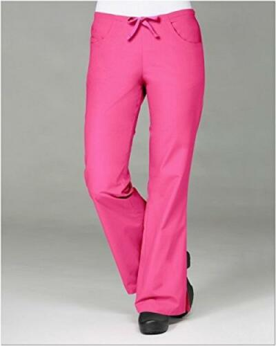 Maevn Women/'s Core Classic Flare Pants Hot Pink, Large Tall