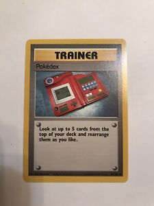 RARE-NEW-Pokemon-Pokedex-Trainer-Card-87-102-EXCELLENT-CONDITION-Never-Played
