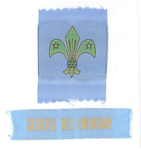 SCOUT OF URUGUAY SCOUTS DEL URUGUAY MEMBERSHIP RANK AWARD /& STRIP PATCH SET