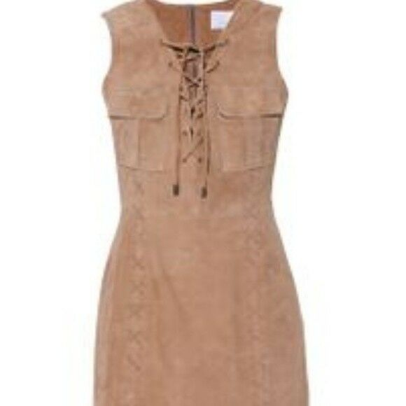 Walter Baker NY SUEDE LACE UP Ellie Dress