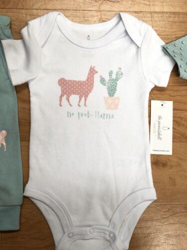 Minty Green 3 Piece Girls Body Suit /& Legging Set Llama Peanutshell Layette