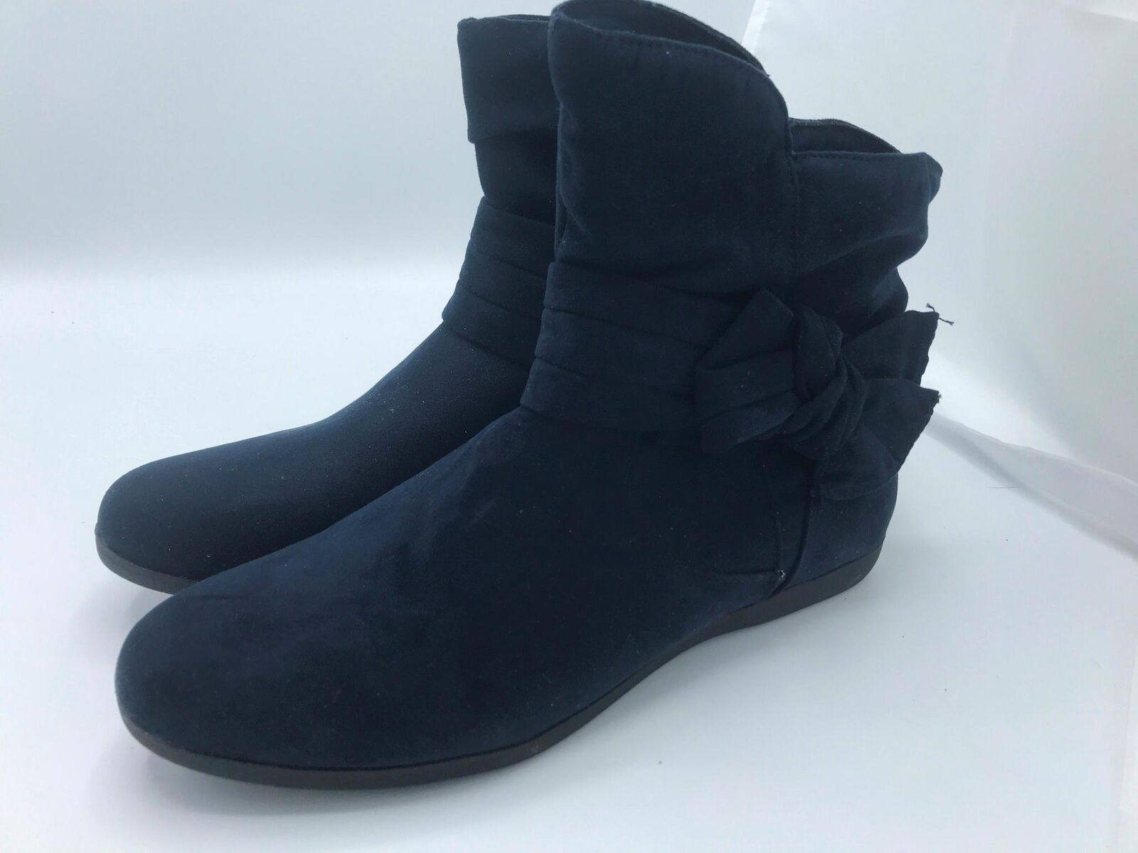Rampage Basha Microsuede Bootie with Removable Bow Navy