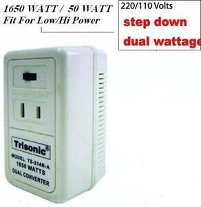 Foreign Travel Voltage Converter Slide S W 50 1875w 220v