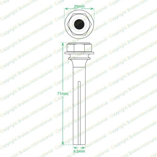 FORD SCORPIO 95-98 BCF1302W REAR BRAKE CALIPER SLIDER PINS GUIDE KIT FITS