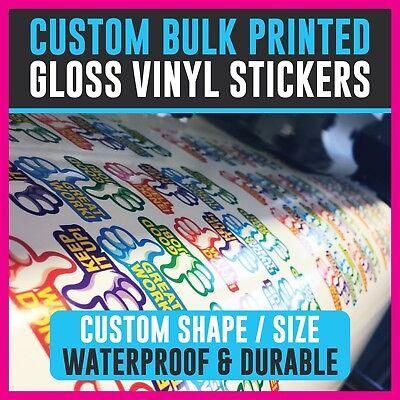 Custom Bulk Printed Contour Kiss Cut Vinyl Stickers Decal Labels Waterproof