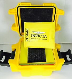 Invicta-Impact-One-Slot-Yellow-Dive-Case-Watch-Box-Brand-New
