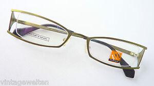 Sonnenbrillen & Zubehör Eye Concepts Metallicgrüne Brille Gestell Sehr Schmale Form Teilrandlos Grösse M Gute Begleiter FüR Kinder Sowie Erwachsene