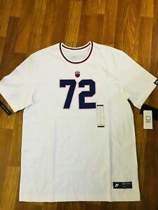 mientras tanto patinar fuego  Nike Sportswear Club 72 Tee White T-Shirt BQ0328-133 Size L | eBay