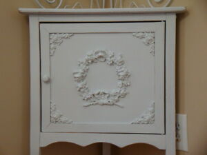 Shabby chic rose floral wreath furniture appliques architectural