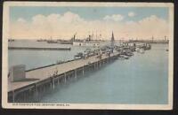 Postcard NEWPORT NEWS Virginia/VA  Old Dominion Boat Dock Pier view 1910's