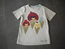 H&M Angry Bird & Ice Cream Graphic Tee - Short Sleeve - Size 4 - 6