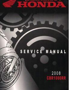honda cbr 1000rr service repair maintenance worshop manual 2008 rh ebay com 2008 cbr1000rr service manual 2008 cbr1000rr owners manual