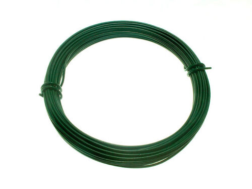 PLASTIC COATED GARDEN FENCING WIRE 0.75MM X 30M COLOUR GREEN