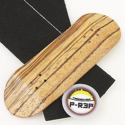Zebra Extra Wide Peoples Republic 32MM Wooden Fingerboard Deck