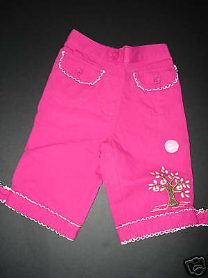 NWT Gymboree CANDY APPLE Apple Tree Pink Capris 2T