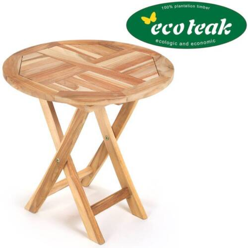 Ploss Eco teck table d/'appoint tennessee environ ø50cm table de jardin table pliante table