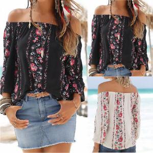 Fashion-Women-Casual-Boho-Loose-Long-Sleeve-Cold-Shoulder-Tops-Blouse-T-Shirts