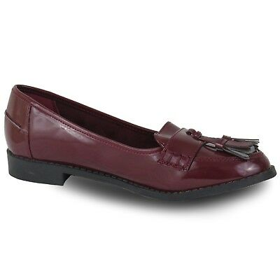 Girls Ex Store Smart Loafer School Shoes Top Brand Size 11 - 3 UK