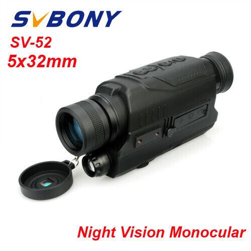 SVBONY SV52 HD 5x32mm Digital Night Vision Monocular 0.3 Mega Pixels CMOS UK