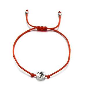 Bracelet-Red-Cord-Friendship-Tree-of-Life-ADJUSTABLE-LENGTH-with-GIFT-BAG