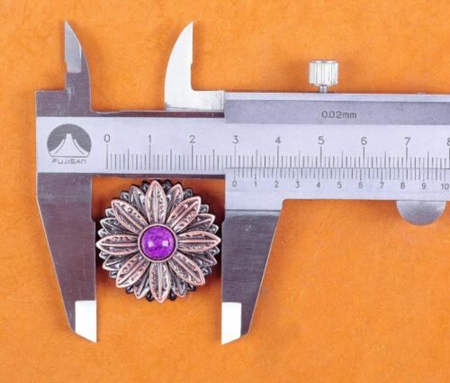 2 Piece Concho Screw Rivets Studs For Screws Studs Ornamental Flower 30 MM