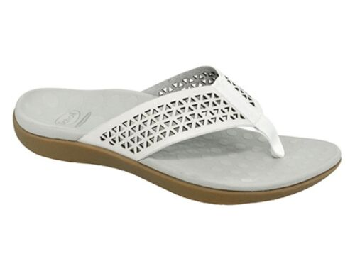 Orthaheel Scholl Orthotic Orthotics Women/'s Splice Thongs White NEW