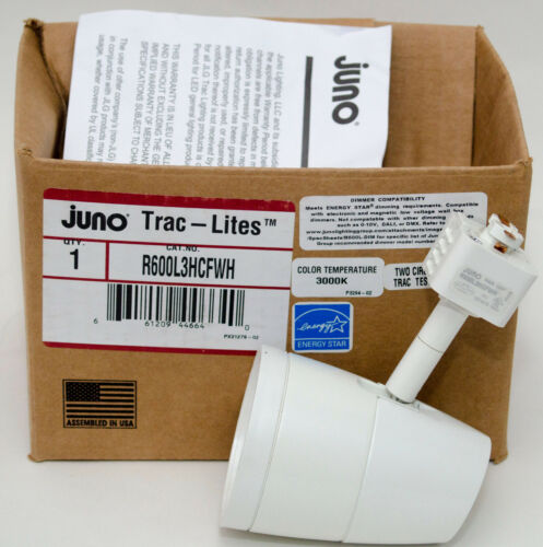 Juno 10W LED Trac-Lites White Flood Light Fixture R600L Series R600L3HCFWH