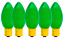 C-9 GREEN CERAMIC STEADY BULBS NEW 1 BOX OF 25 C9 GREEN CERAMIC STEADY BULBS