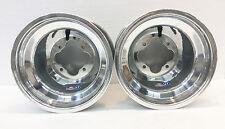 """DWT Polished A5 Rolled Lip ATV Rear Wheel PAIR 10"""" 10x10 5+5 4/110 TRX 250R 450R"""