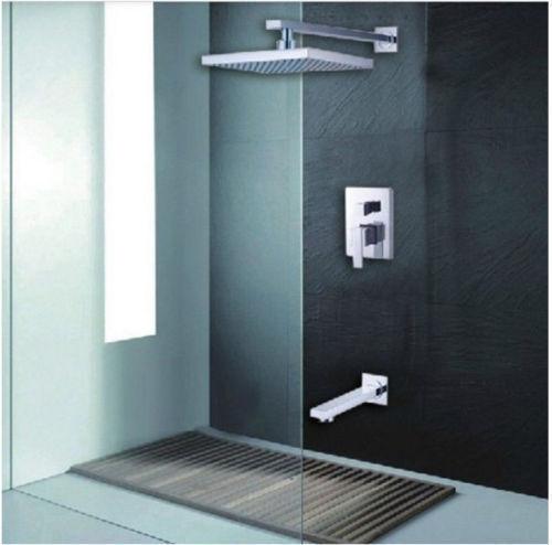 "Bathroom Chrome 8/"" Rainfall Shower Head Hand Held Set Mixer Tap Ceiling Mount"