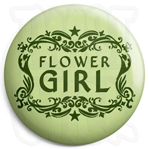 25mm Wedding Hen Button Badge with Fridge Magnet Option Flower Girl