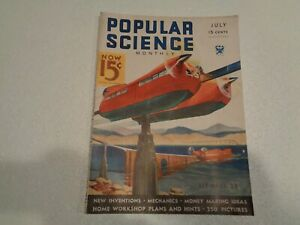 POPULAR SCIENCE MAGAZINE Vintage July 1934 Robot Jailers Cover Art Wittmack