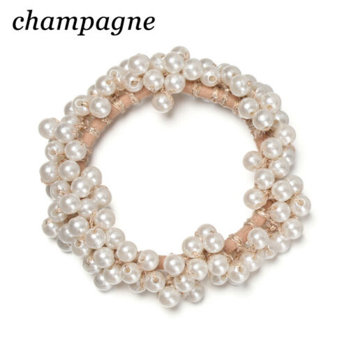 Details about  /Fashion Rubber Scrunchie Ornament Hair Band Headwear Pearl Headband Hair Rope