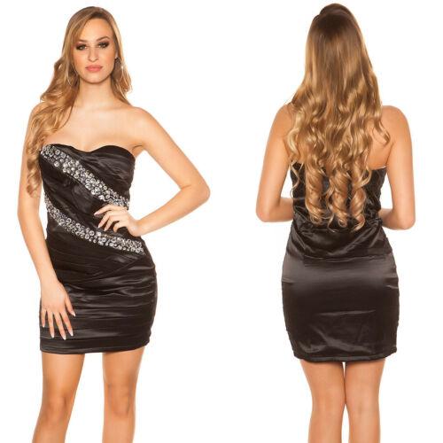 KouCla Dress Cocktail  Kleid Party Minikleid Abendkleid  Strass