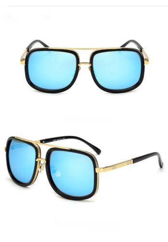 Oversized Square Aviator Large Metal Bar  Mens Sunglasses Designer Fashion
