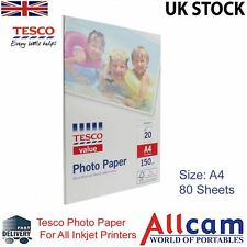 4 Pack: Tesco Value Carta Lucida Per Foto A4 (210x297 mm) 150 g/m2 - 80 fogli