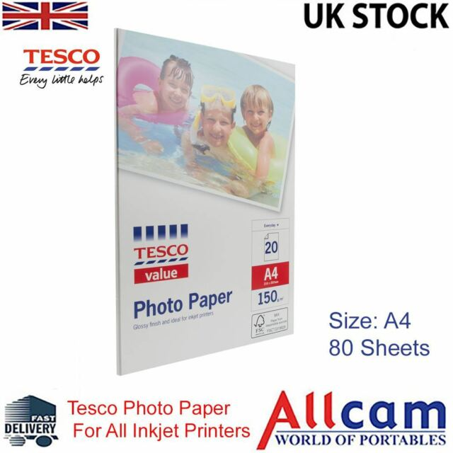 4 pack tesco value glossy photo paper a4 210x297 mm 150