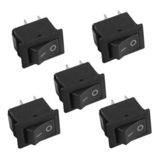 10x SPST On//Off 2 Pins Rocker Mini 12V Switch For Automotive//Car//Boat