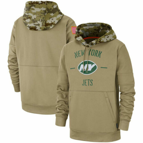 New York Jets Football Hoodie Salute to Service Sideline Pullover Sweater 2020