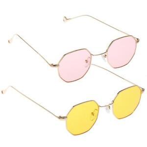 e08a0da1bd692 Lunettes Soleil Rond Vintage Style Goggles Métal Unisexe Verre Rose ...