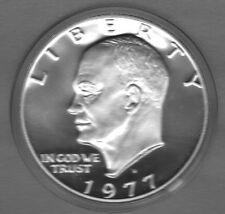 1977-S CHOICE PROOF EISENHOWER DOLLAR (COPPER/NICKEL CLAD)