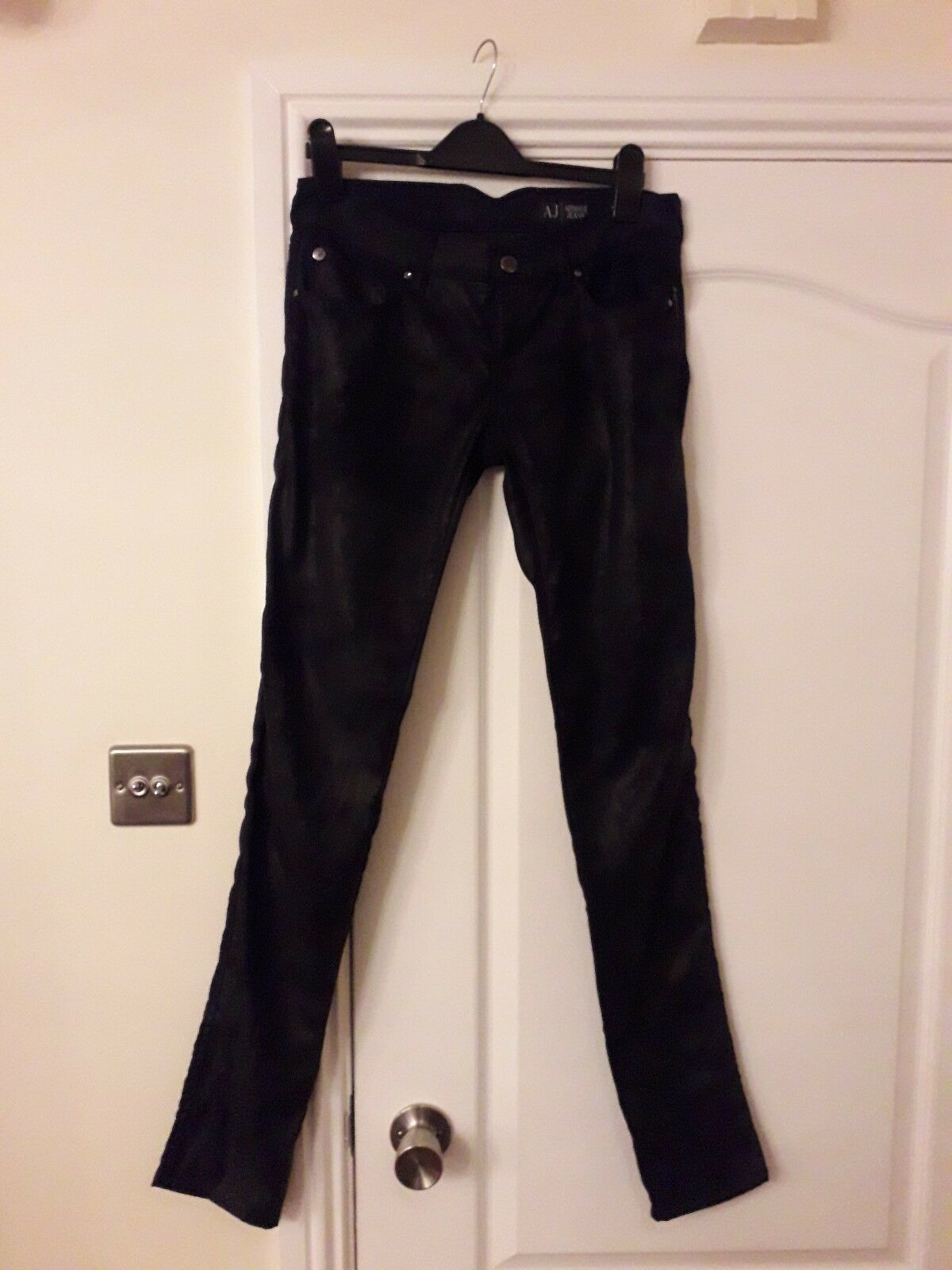 Womens Armani Skinny Fit Low Rise Trousers (Size  )