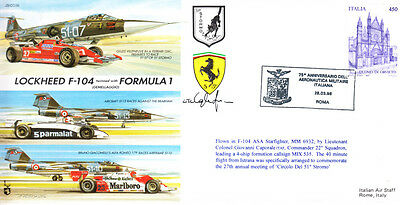 CC38b Italy Formula 1 Ferrari Brabham vs Jet Aircraft race F1 signed cover  | eBay