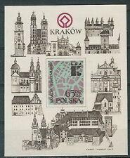 Poland block MNH (Mi. B90) Krakow architecture