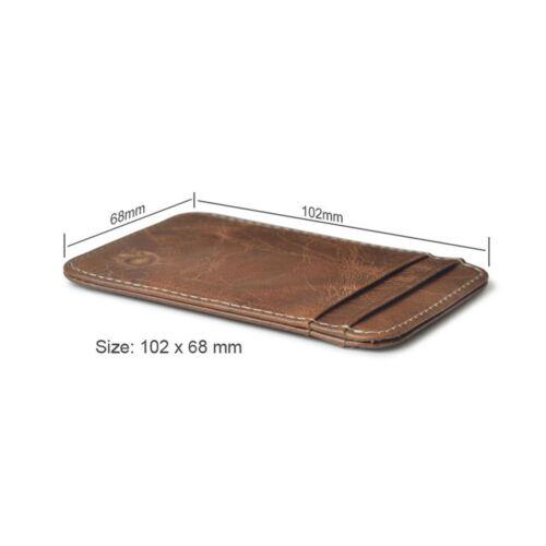 Luxury Leather Men/'s Slim Bifold Wallet Credit Card Holder Billfold Purse Clutch