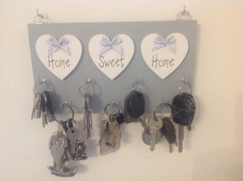 X-Large Key Holder Home Sweet Home Grey