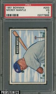 1951-Bowman-253-Mickey-Mantle-Yankees-RC-Rookie-HOF-PSA-3-VG-034-ICONIC-CARD-034