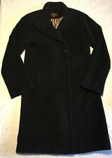 Women's Cole Haan Black Wool Trench Coat Sz 4